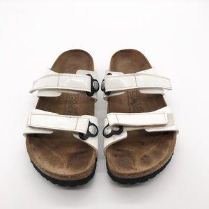 White Birkenstock sandals birkis